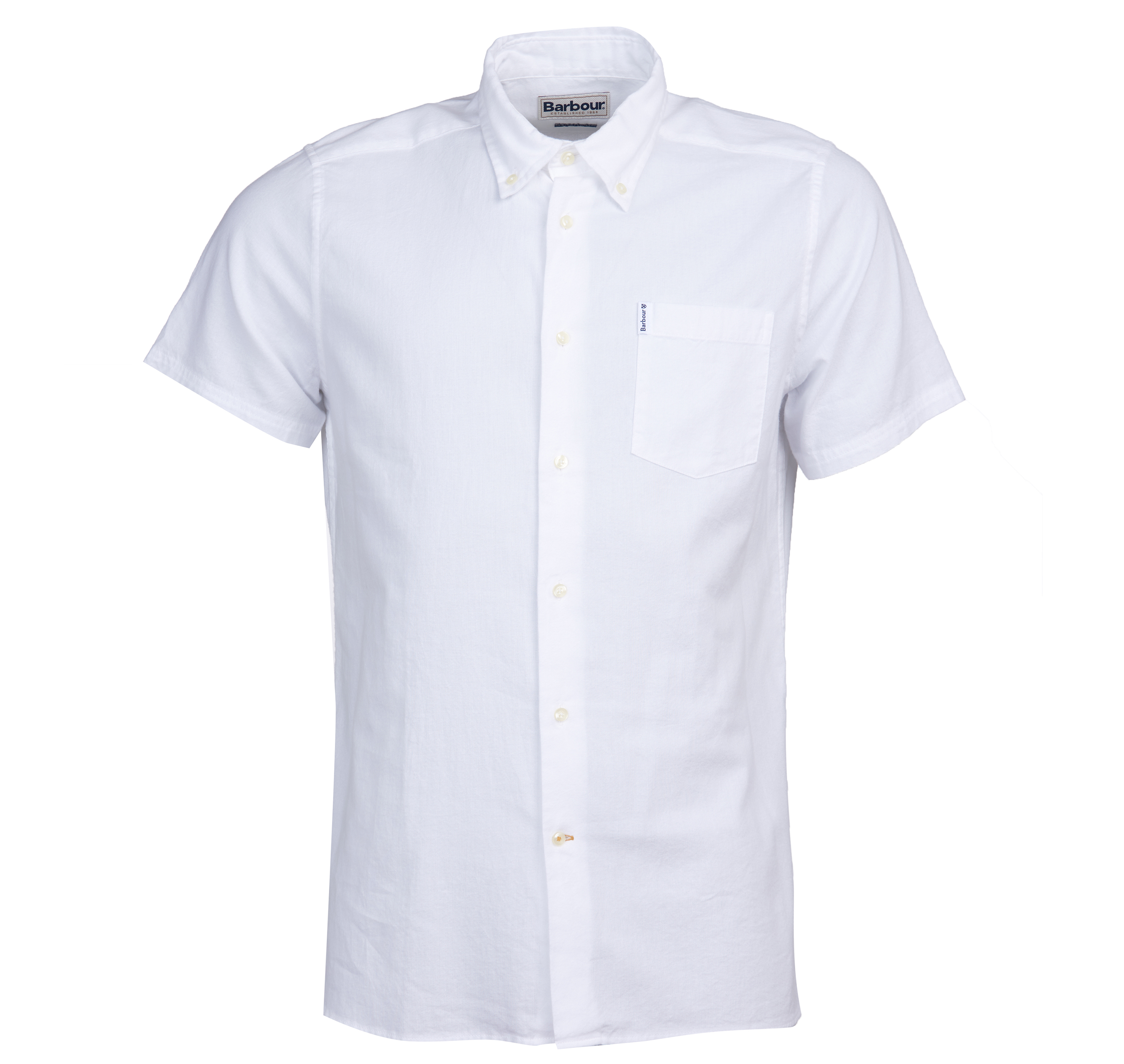 Barbour Barbour Oxford 9 Short Sleeved Shirt White Tailored Fit