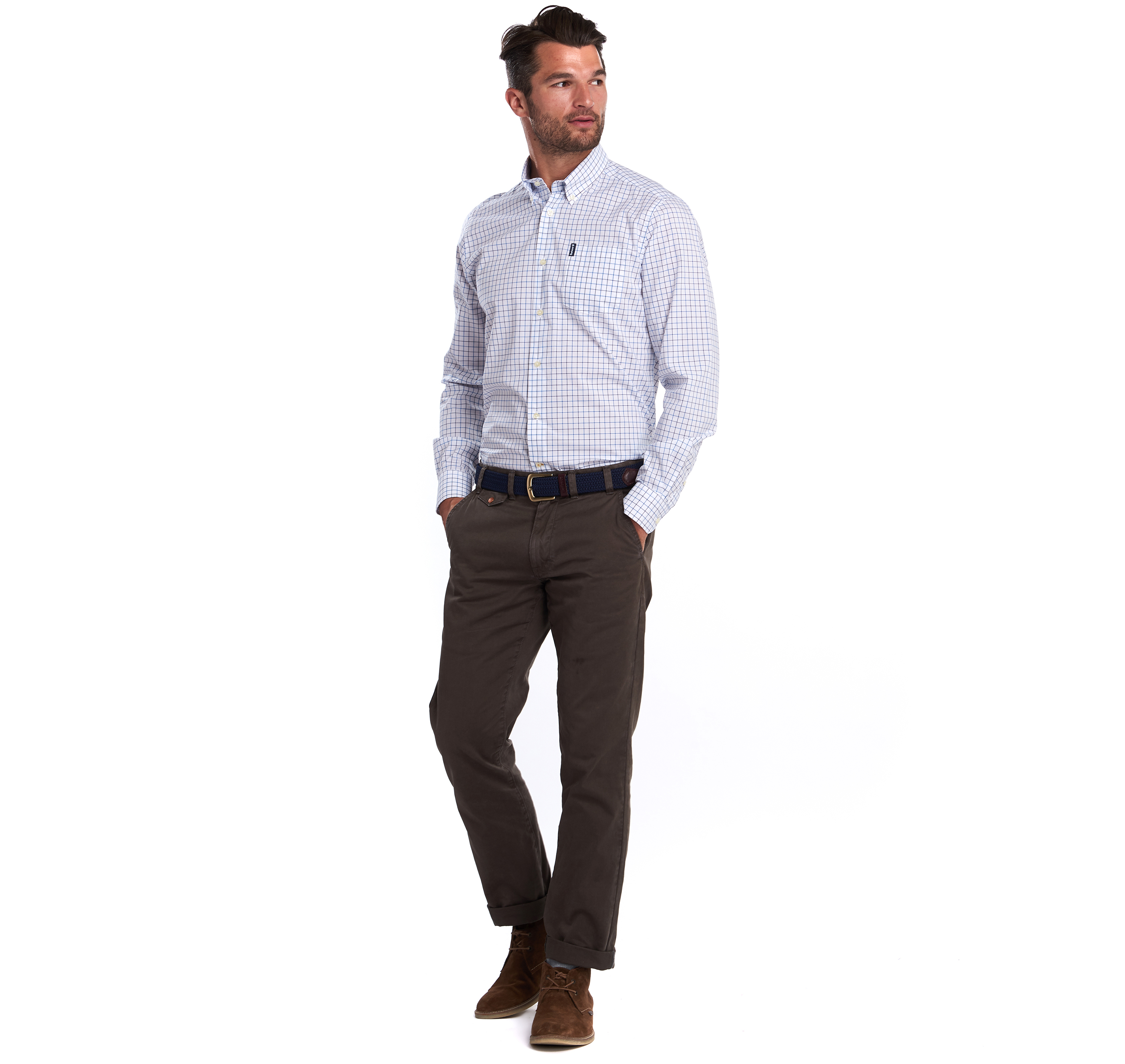 Barbour Tattersall 16 Tailored Shirt Blue