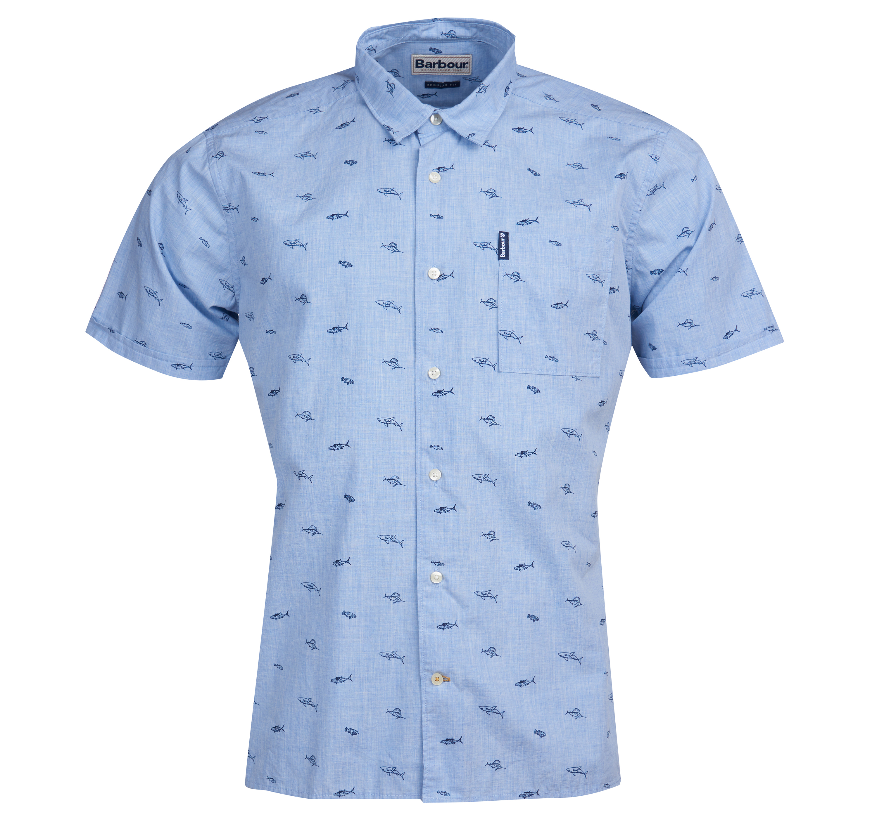 Barbour Summer Print 4 Short Sleeved Shirt Tailored Fit