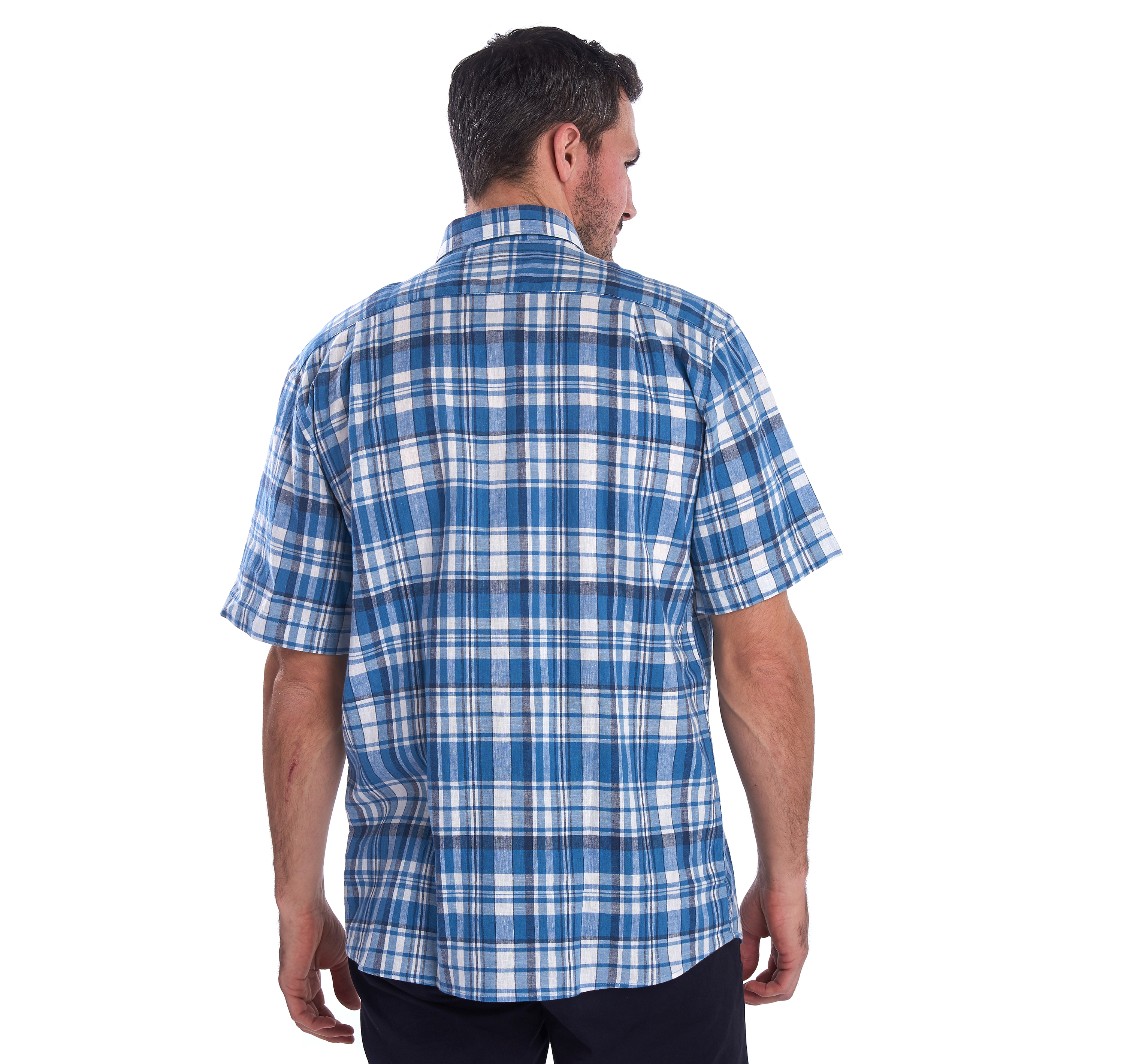 Barbour Linen Mix 2 Short Sleeved Reg Shirt