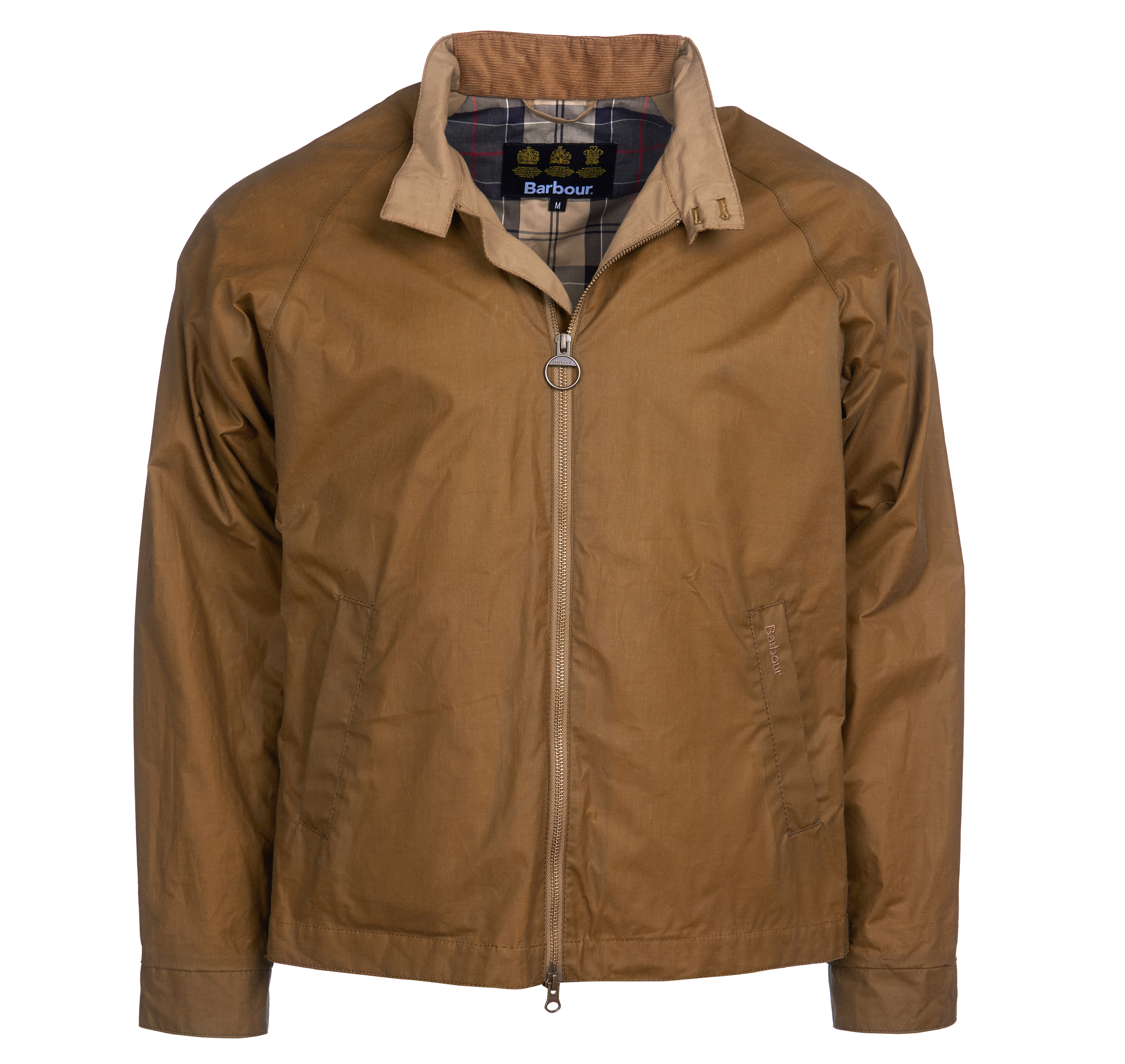 Barbour Ender Wax Jacket Sand Tailored Fit