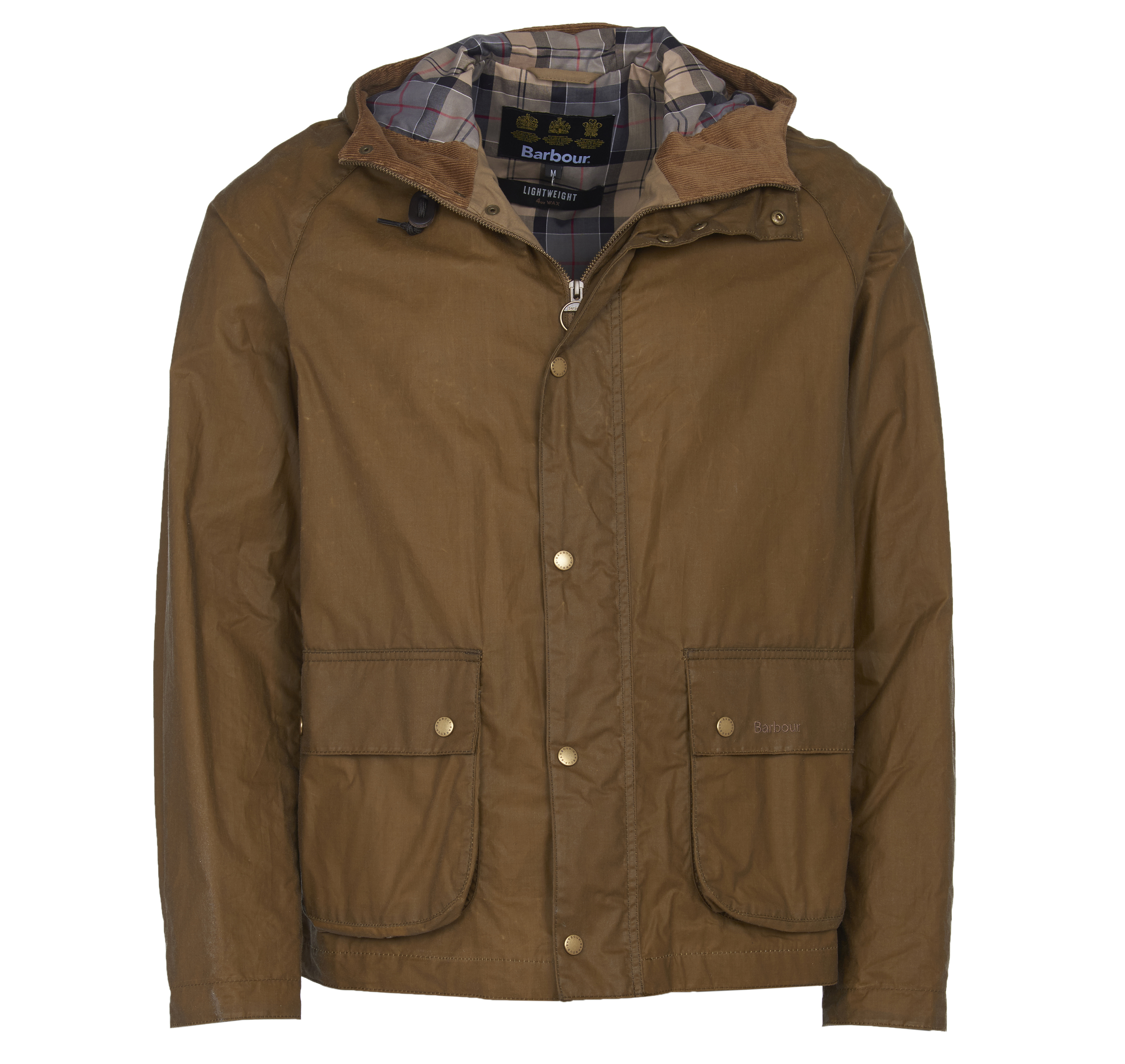 Barbour Lightweight Campbell Wax Jacket Sand Tailored Fit