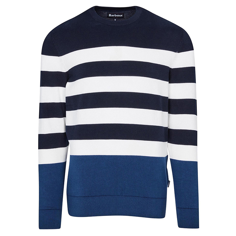 Barbour Copinsay Sweater Navy FIT: Regular