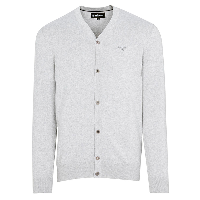 Barbour Cotton Cardigan Grey FIT: Regular