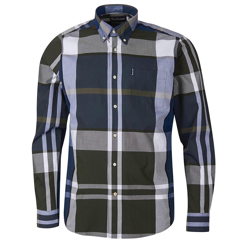 Barbour Tartan 12 Tailored Shirt Sage FIT: Tailored