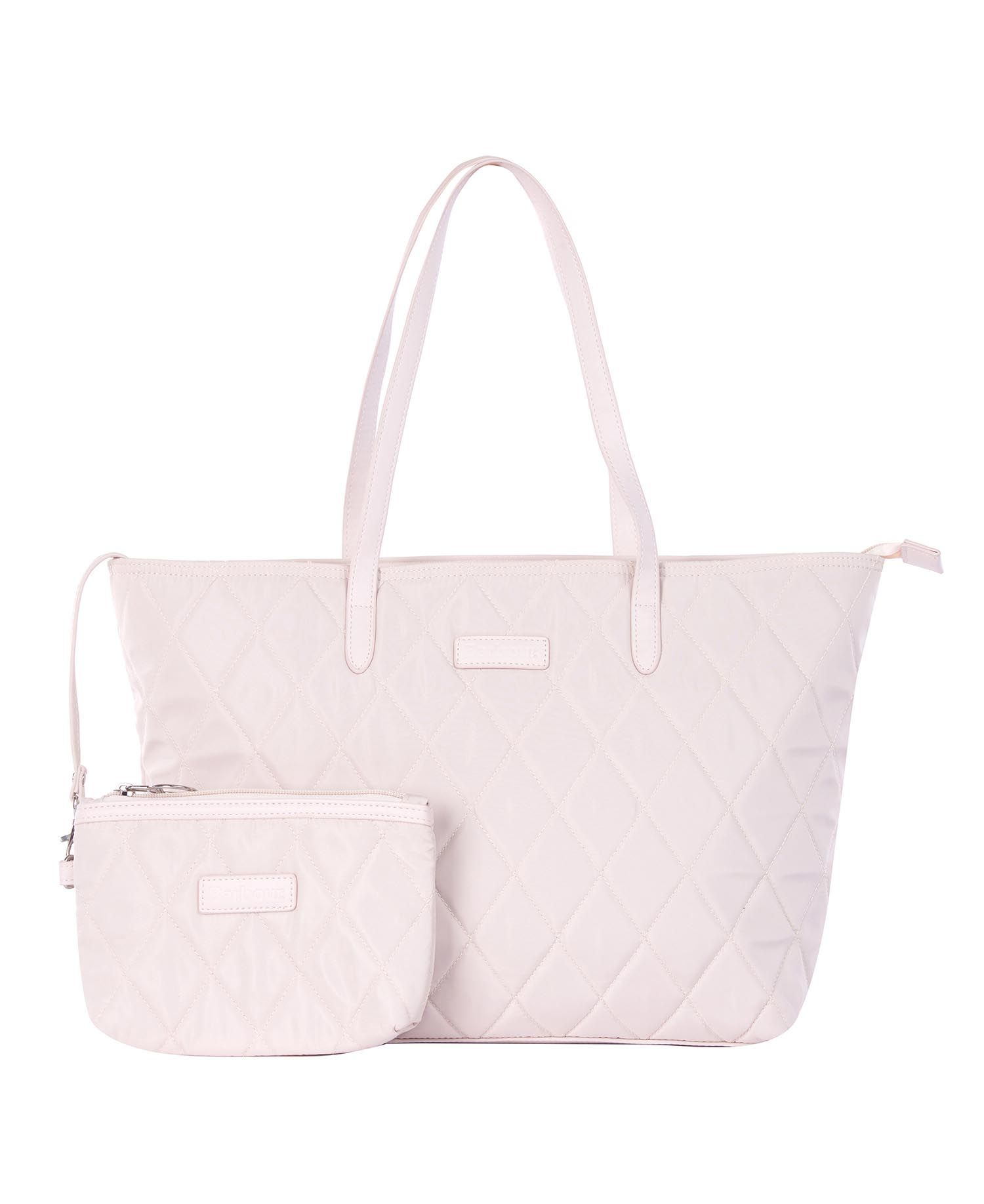Barbour Witford Quilted Tote Bag Pink Barbour Lifestyle: From the Tartan Collection