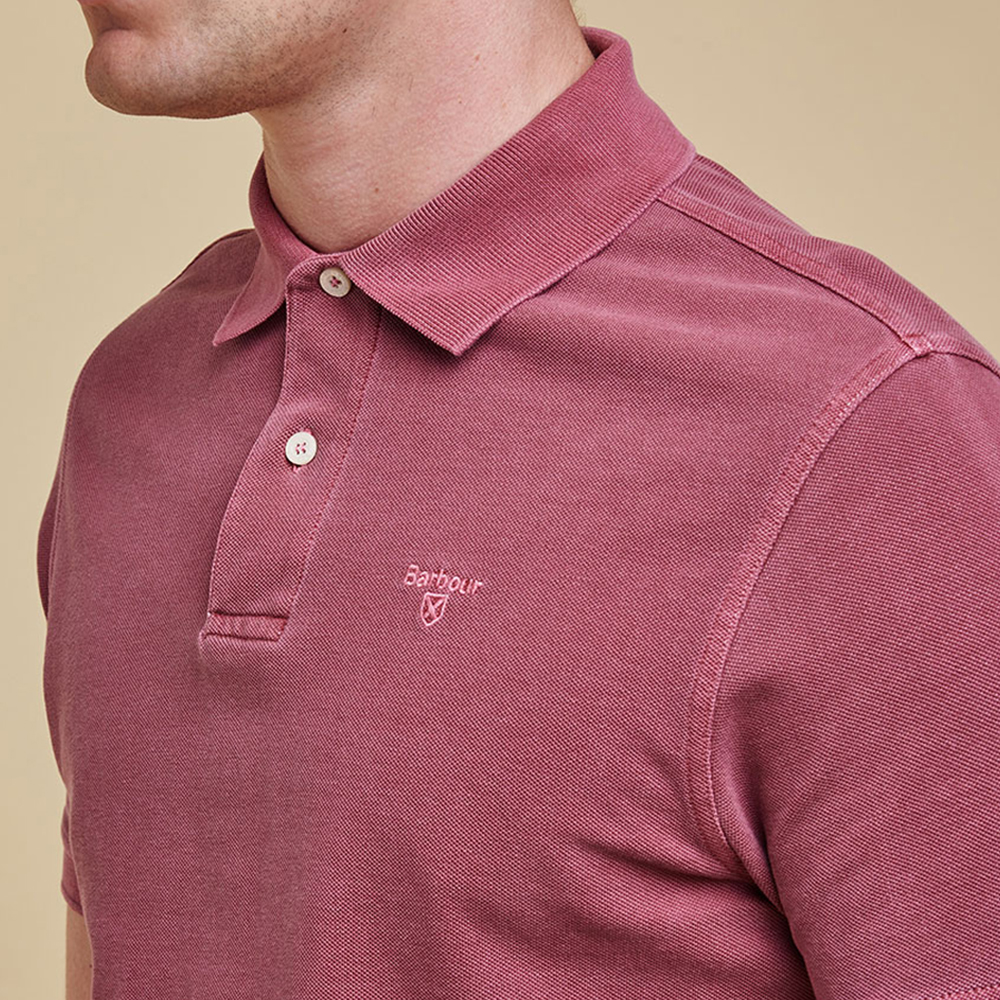 Barbour Washed Sports Polo Biking Red