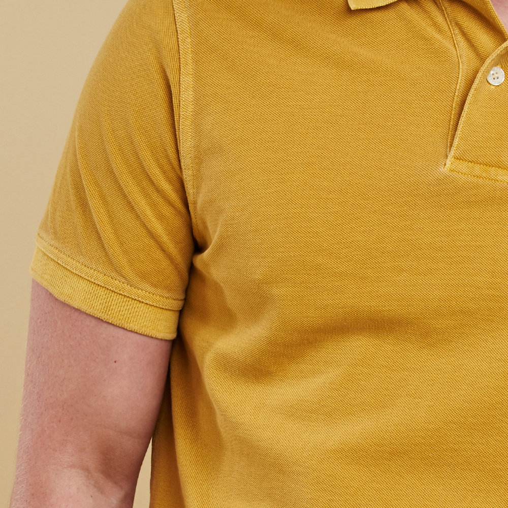 Barbour Washed Sports Polo Shirt Mustard