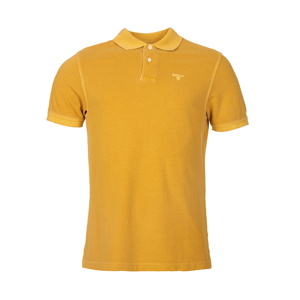 Barbour Washed Sports Polo Shirt Mustard Barbour Lifestyle: From the Core Essentials collection