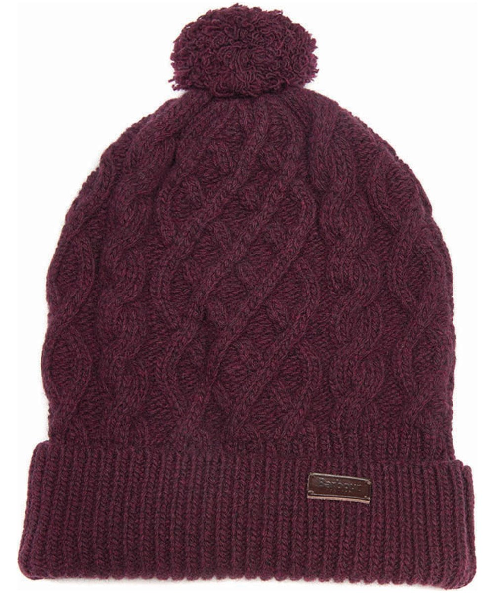 Barbour Cable Knit Beanie Merlot Barbour Lifestyle: From the Great Coat collection