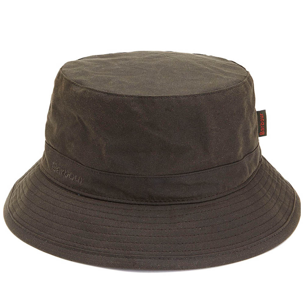 Barbour Barbour Wax Sports Hat Olive Clásico gorro de lluvia Barbour