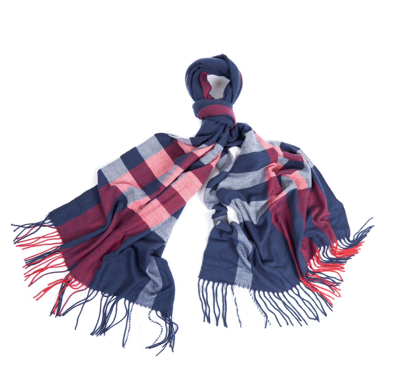 Barbour Skye Check Scarf Navy