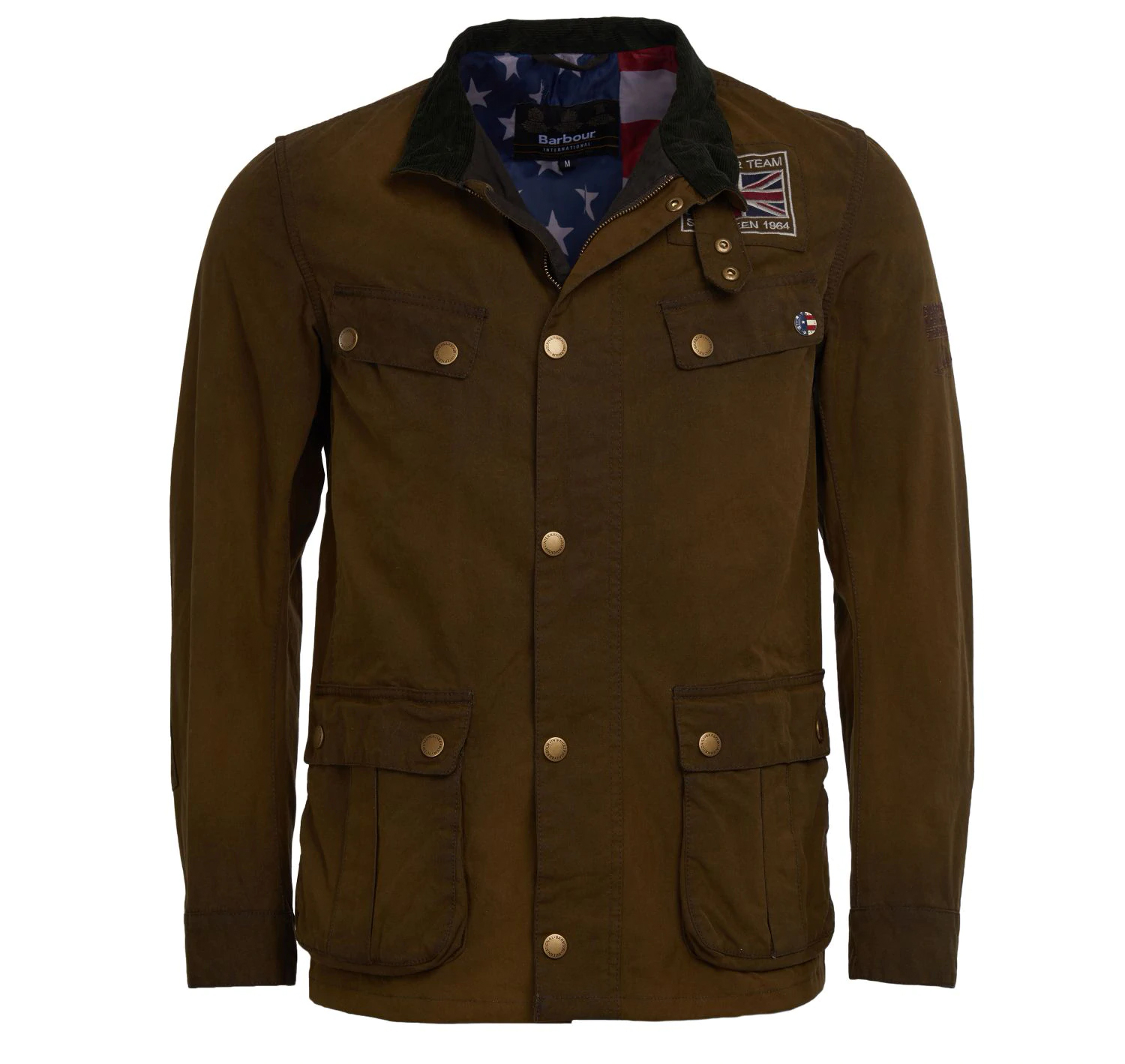 Barbour Barbour Lester Washed Waxed Jacket Olive Barbour International from the Steve McQueen collection