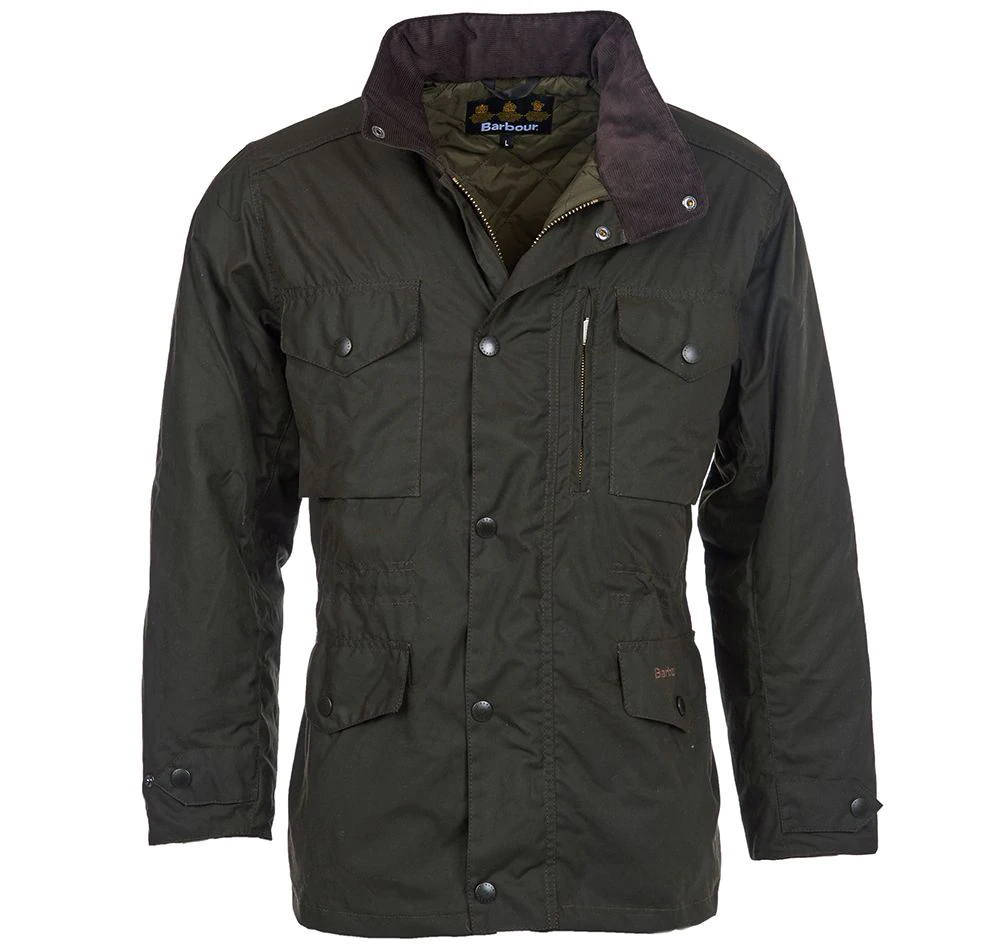 Barbour Barbour Sapper Waxed Jacket Olive Barbour Lifestyle: from the Storm capsule