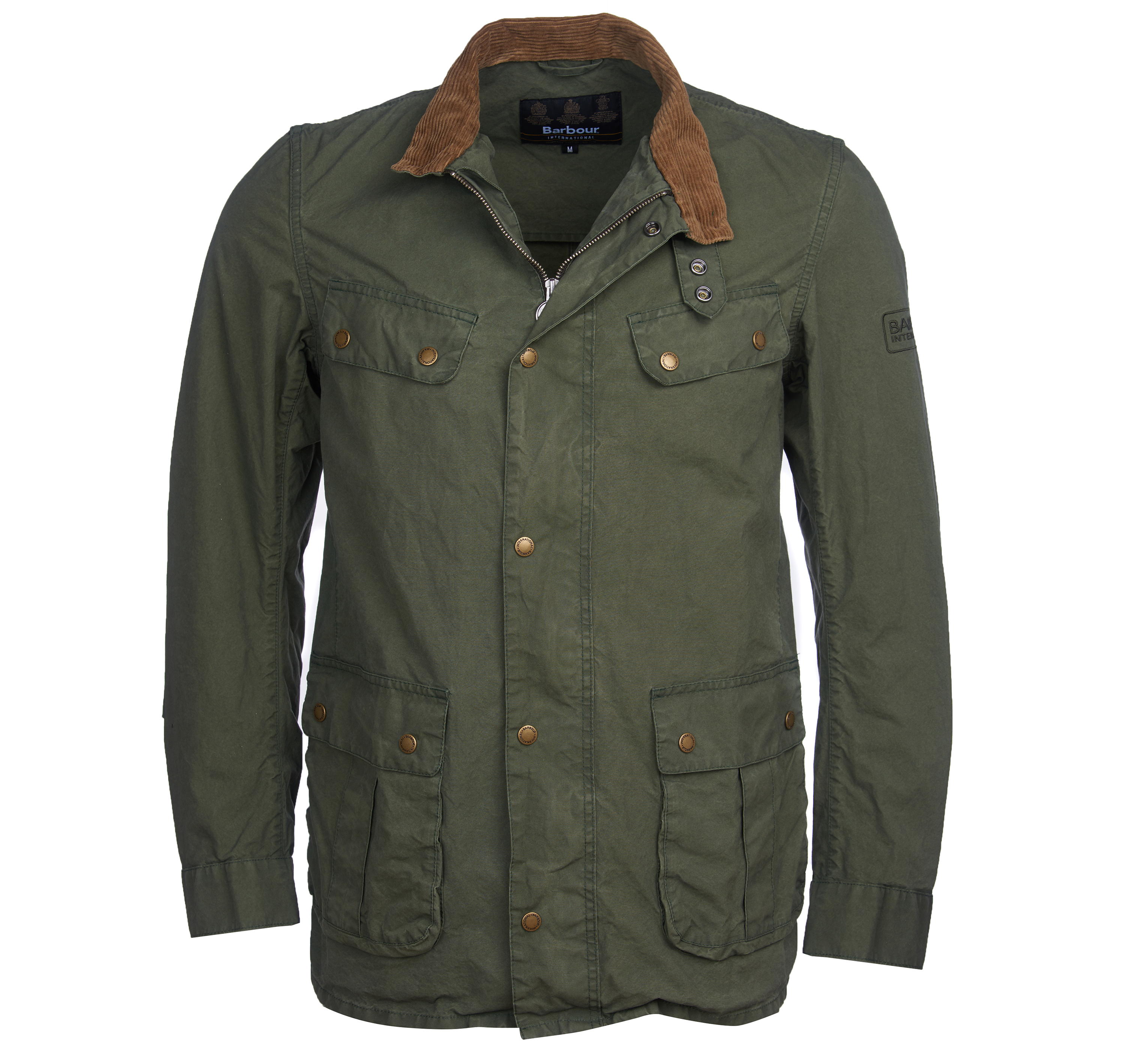 Barbour B. Intl. Coloured Duke Casual Jacket Green Tailored Fit