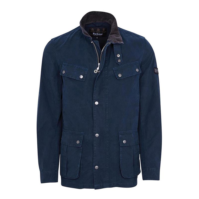Barbour B. Intl. Coloured Duke Casual Jacket Indigo Tailored Fit
