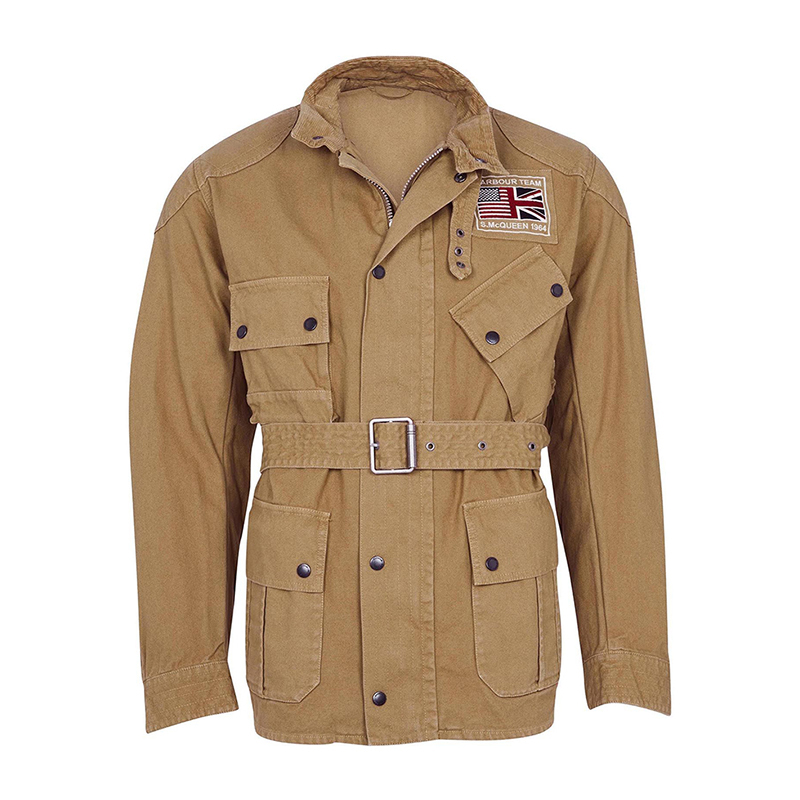 Barbour B.Intl Steve McQueen Washed Southwest Casual Jacket Stone FIT: Tailored