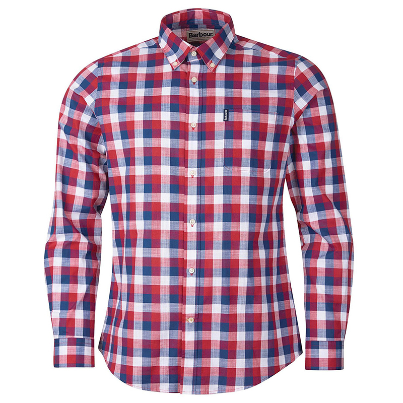 Barbour Barbour Gingham 25 Tailored Shirt Red FIT: Tailored