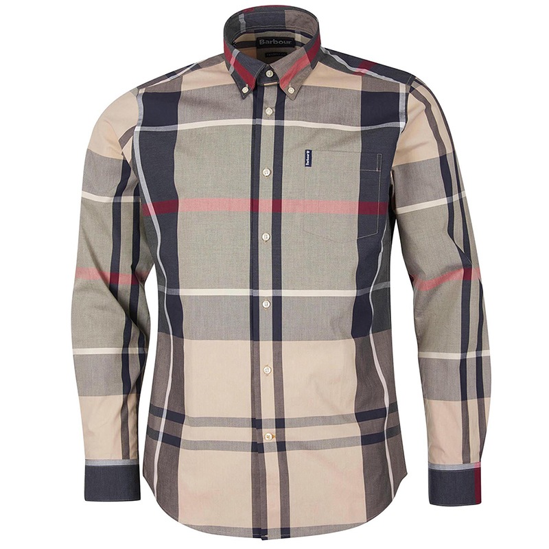 Barbour Barbour Tartan 12 Tailored Shirt Stone FIT: Tailored