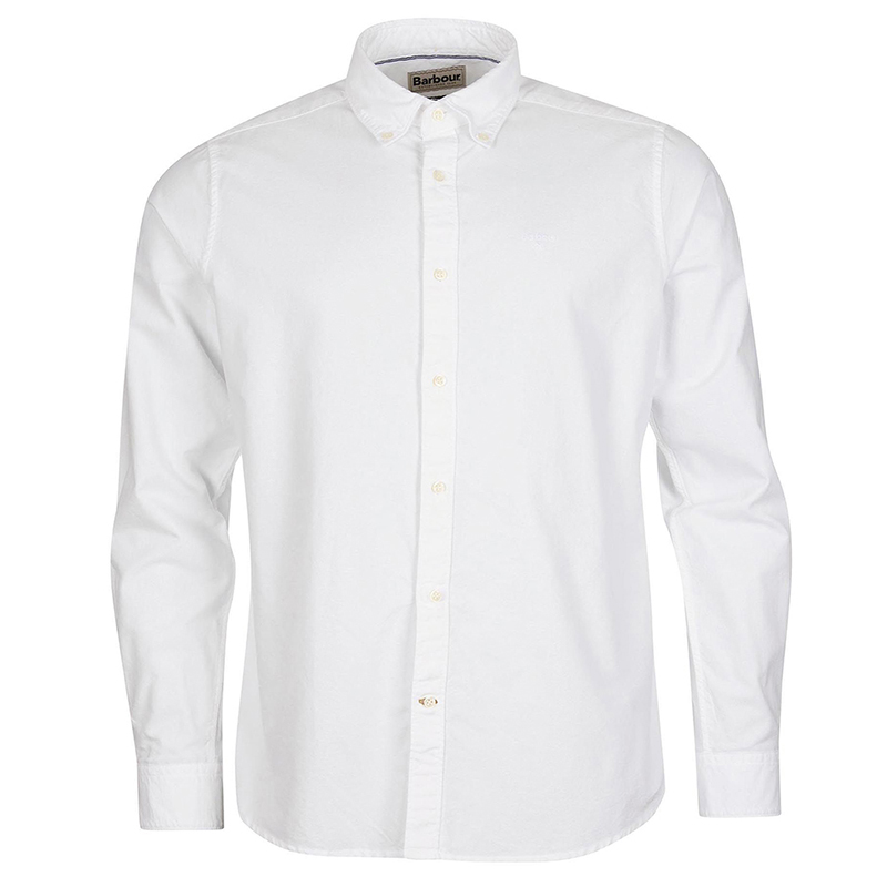 Barbour Barbour Oxford 13 Tailored Shirt White FIT: Tailored