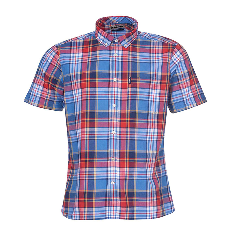 Barbour Barbour Madras 9 Short Sleeved Tailored Shirt FIT: Tailored